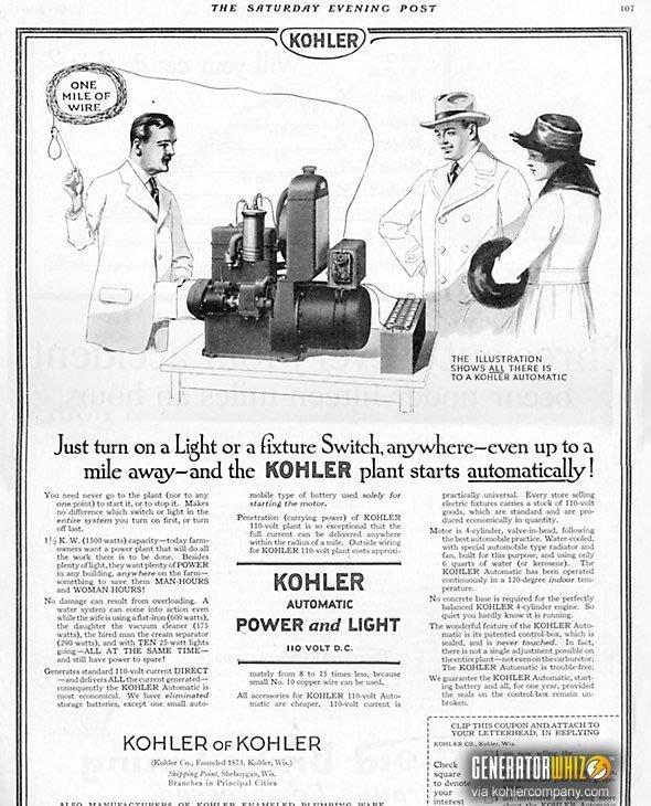 Kohler electric plant